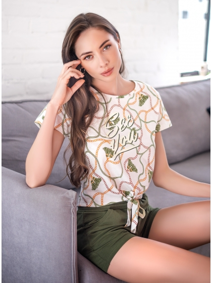 """Домашняя пижама """"Индефини"""" (Арт.532000-TBD0074)"""