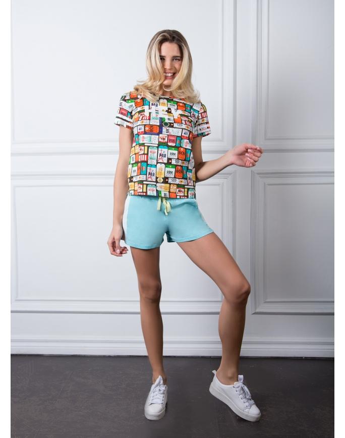 """Домашняя пижама """"Индефини"""" (Арт.532000-TBD9028)"""