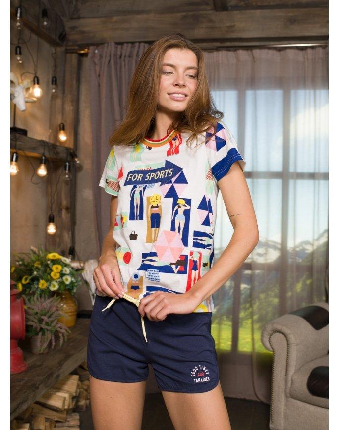 """Домашняя пижама """"Индефини"""" (Арт.532000-TBD9089)"""